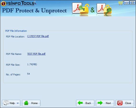 SysInfoTools PDF Protect and Unprotect