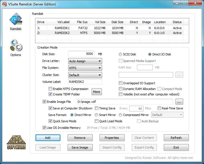 VSuite Ramdisk Server Edition