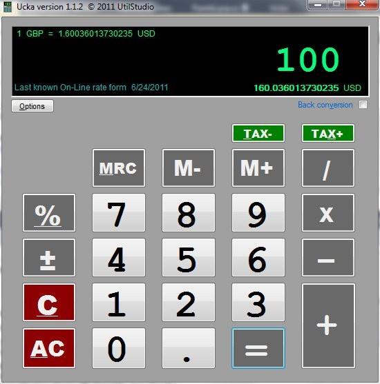 Accountant online euro calculator (Ucka)