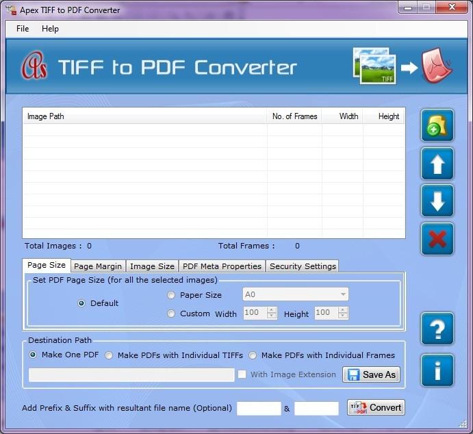 Apex TIFF to PDF Conversion