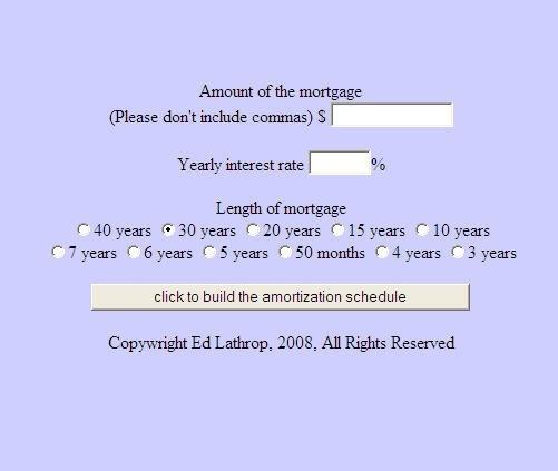 FreeAmortization Schedule
