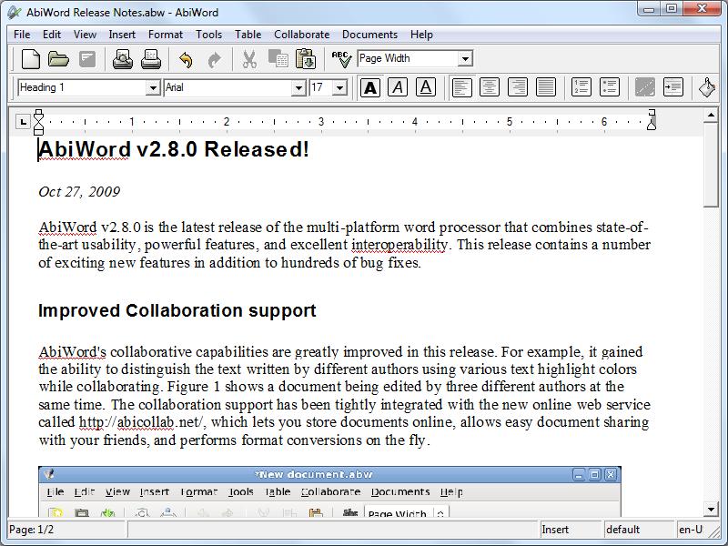 AbiWord Portable 2.8.6 Rev