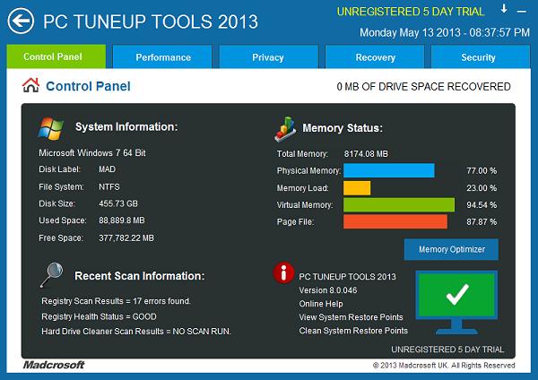 PC TuneUp Tools 2012