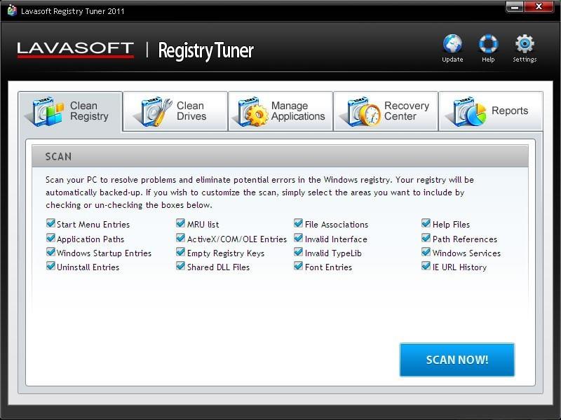 Lavasoft Registry Tuner 2011