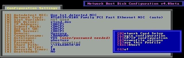 Universal Network Boot Disk 4.0 Beta