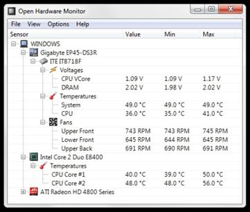 Open Hardware Monitor 0.3.2 Beta