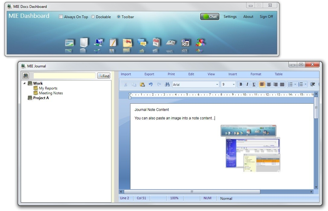 MIE Journal Software