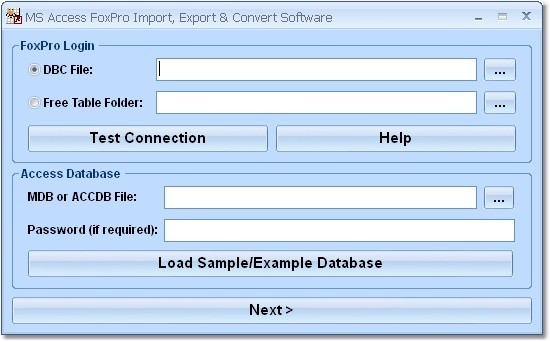 MS Access FoxPro Import, Export & Convert Software