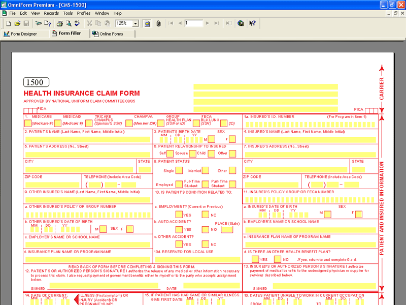 Cms 1500 Form Template - Free Cms 1500 Form Template Software Download