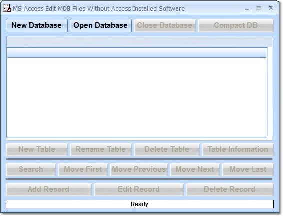 MS Access Edit MDB Files Without Access Installed Software