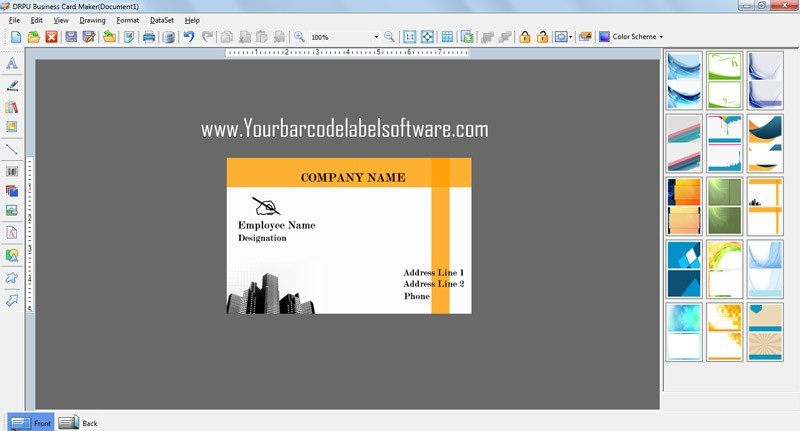 Download free business card design software by www free business card design software v8201 reheart Images