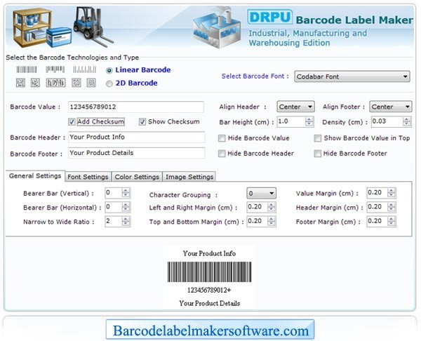 Barcode Label Maker for Warehouse