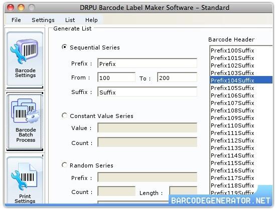 Barcode Generator Mac