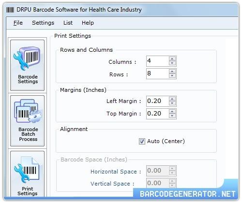 Medicine Barcode Labels Generator