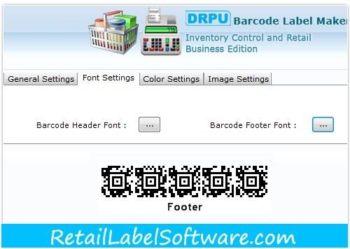 Retail Barcode Label Creator