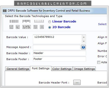 Inventory Barcode Label Creator