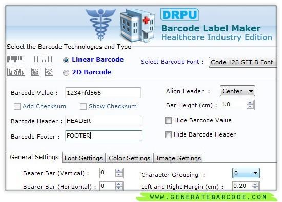 Generate Healthcare Barcode