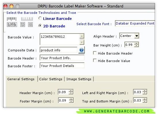 Generate Barcode Mac