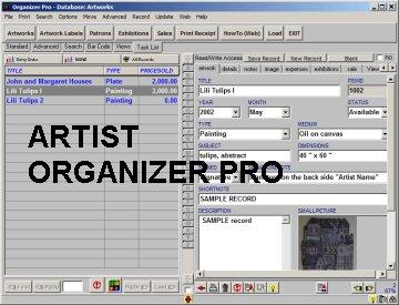 Artist Organizer Pro
