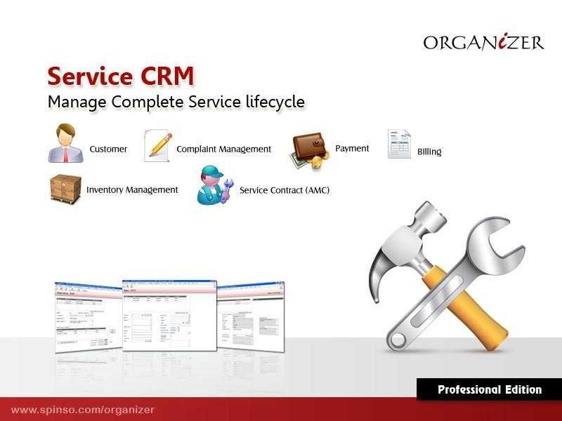 Organizer Professional : Service CRM 2011R