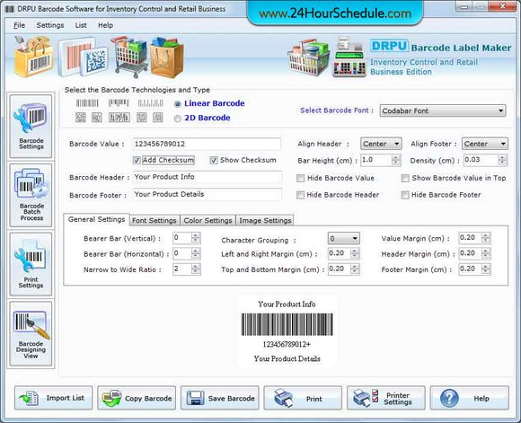 Inventory Tracking Barcode Label