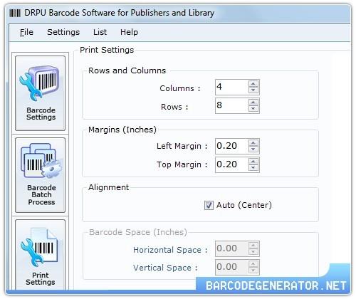 Publishing Industry Barcodes Generator