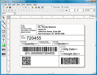 Label Flow Barcode Labeling Software