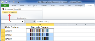 Download free Barcode Add in for Excel and Word by TechNitya
