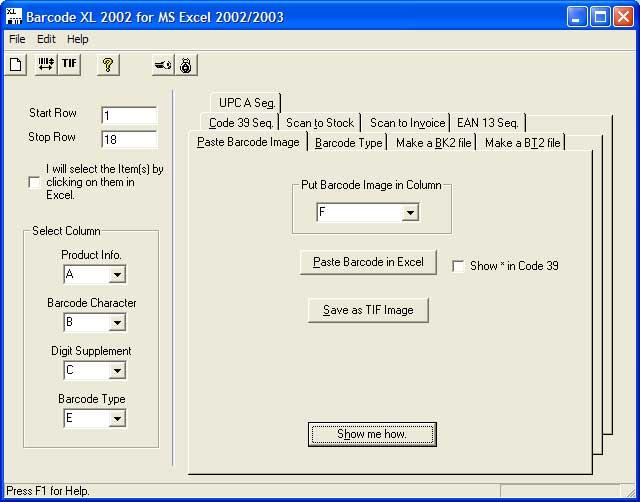 Barcode XL
