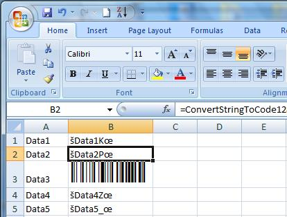 Code 128 Excel Barcode Add In
