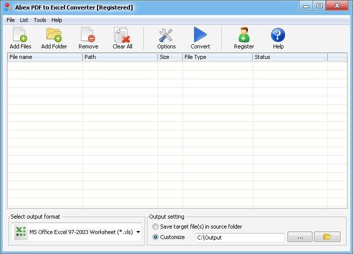 Abex PDF to Excel Converter