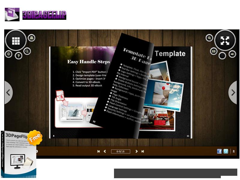 3DPageFlip Free Flip Book Builder