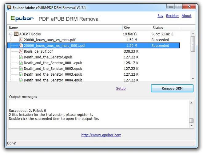 Epubor Adobe EPUB PDF DRM Removal