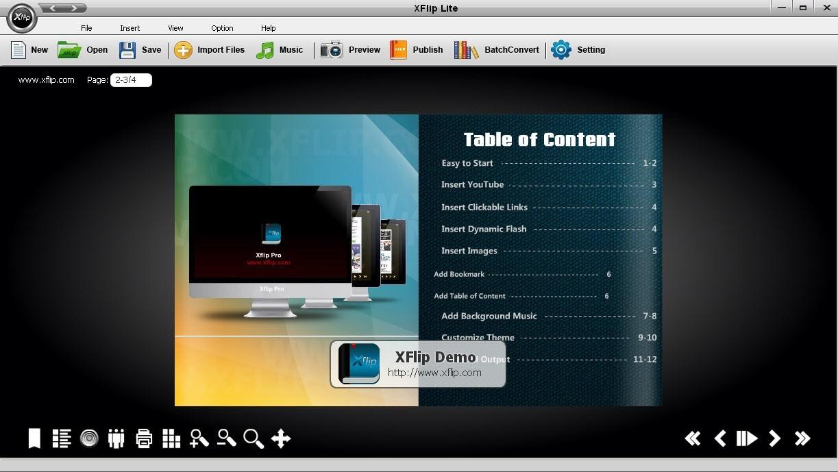 XFlip Digital Magazine Software