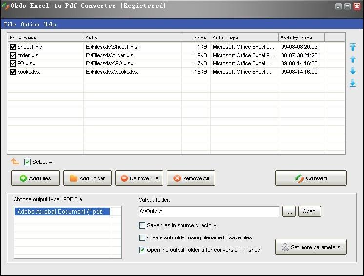 Okdo Excel to Pdf Converter