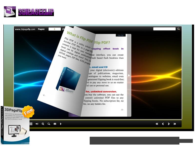 3DPageFlip Free Convert PDF to Flash