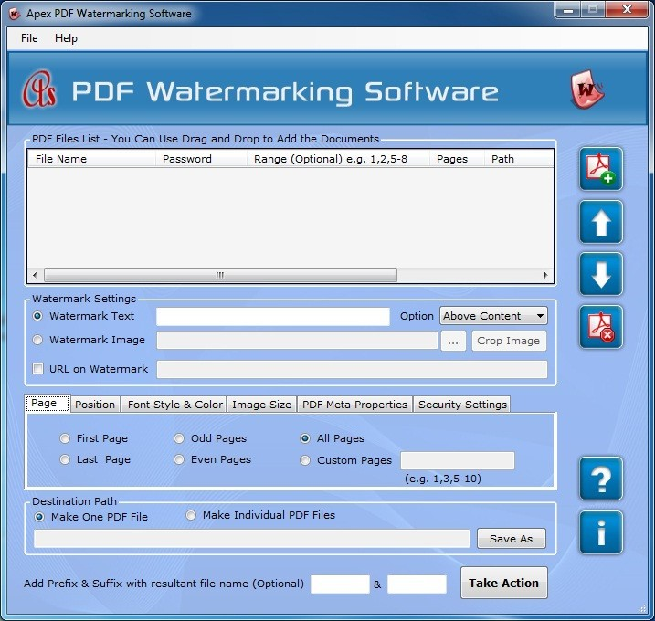 Apex Add Watermark to PDF File