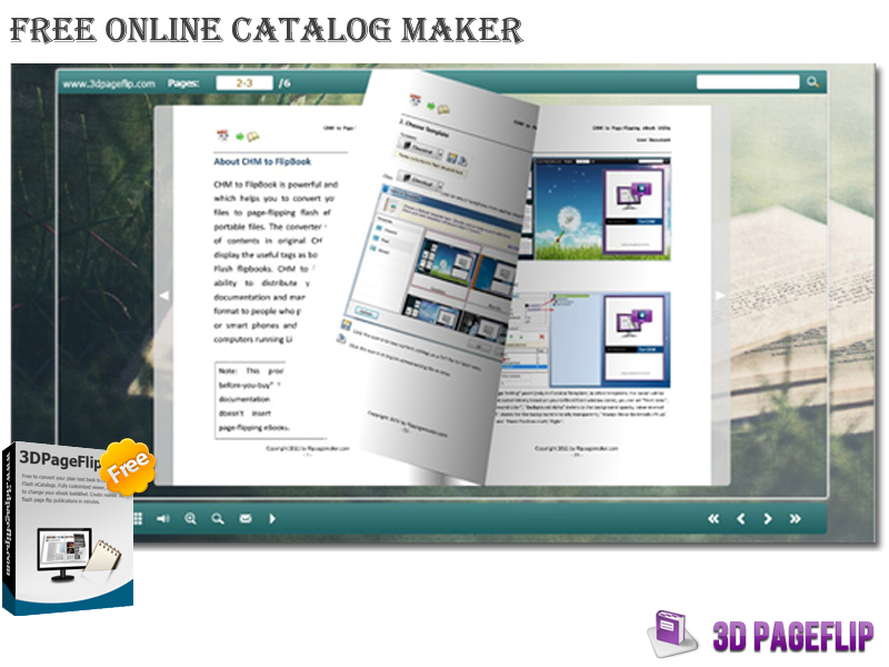 3DPageFlip Free Online Catalog Maker