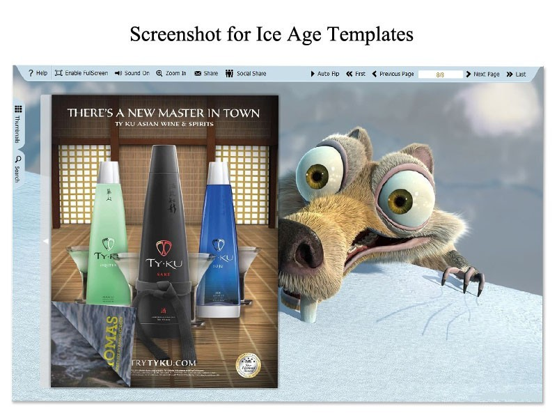 Ice Age Template for Flip Book