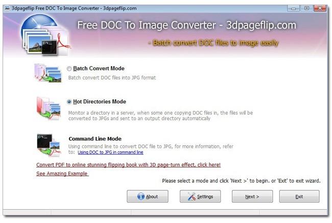 Free 3DPageFlip Doc to Image Converter