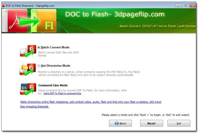 Free 3DPageFlip Doc to Flash Converter