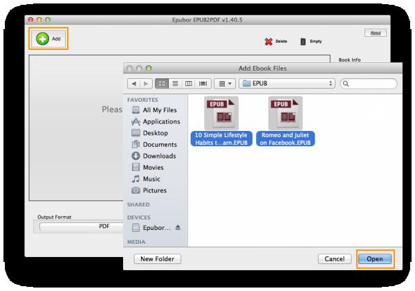 EPUB to PDF Converter for Mac
