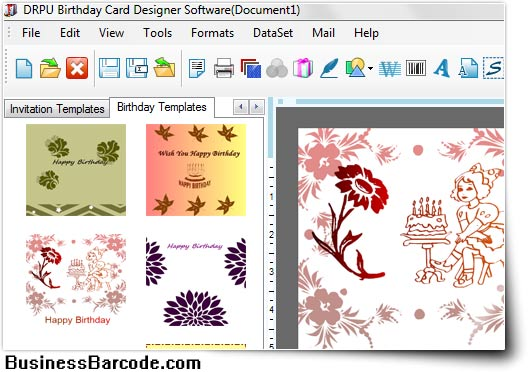 Birth Day Cards Designing Software