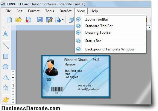 Business ID Card Software