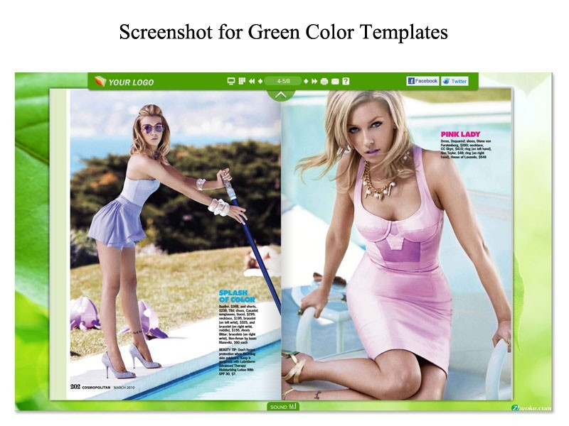 Green Template for Flip Book