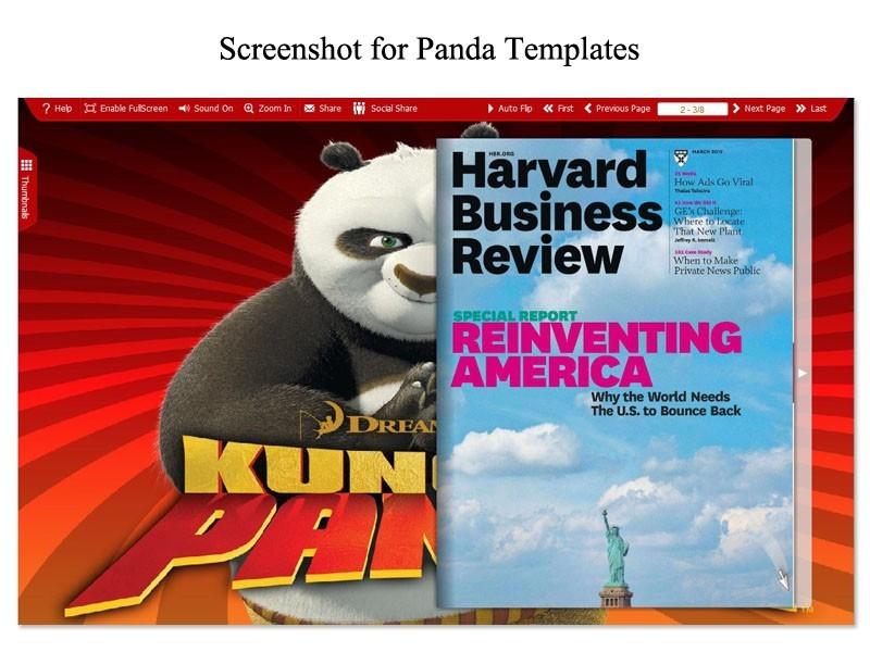 Panda Template for Flip Book