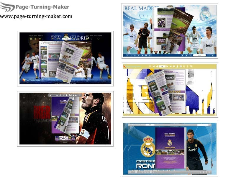 Real Madrid FC Theme for Page Turning Book