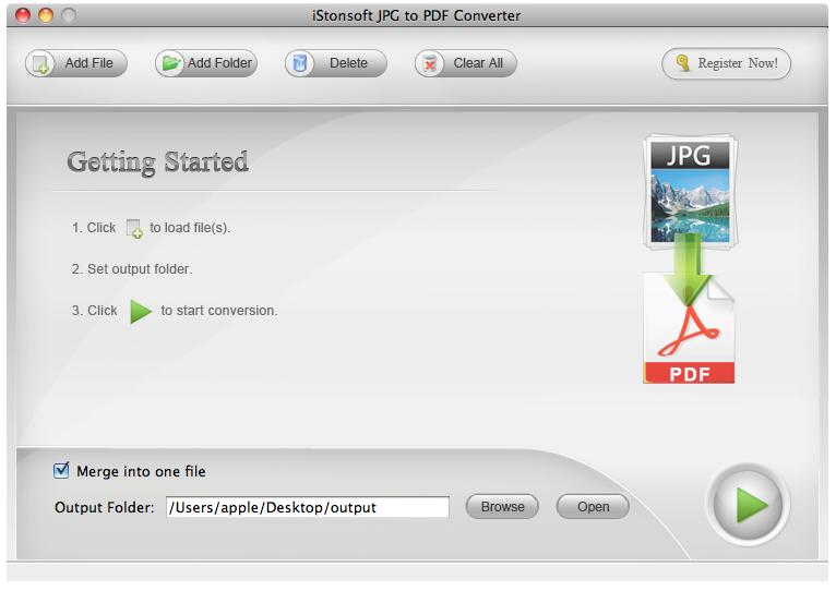 IStonsoft JPG to PDF Converter for Mac