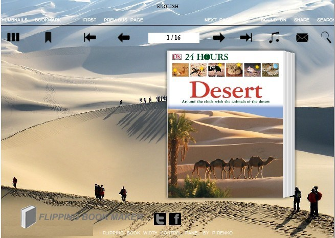 Desert Theme for Wise PDF to FlipBook pro