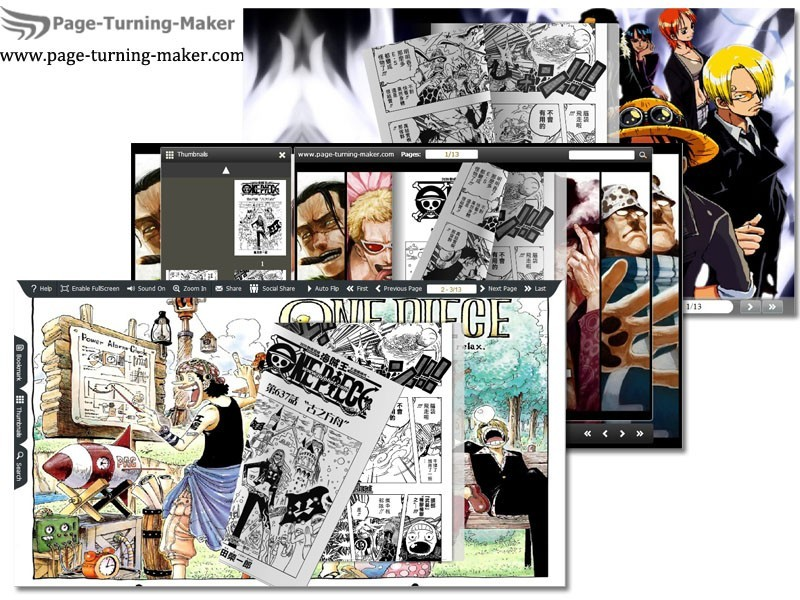 One Piece Theme for Page Turning Book